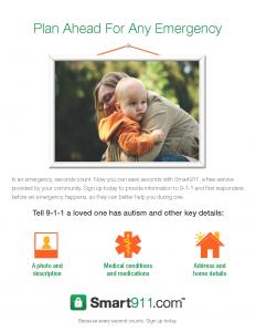 Smart911 Flyer_Portrait_Autism