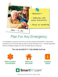 Smart911 Flyer_Post It_Alzheimer's
