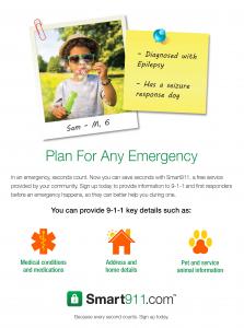 Smart911 Flyer_Post It_Epilepsy