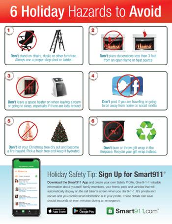 Smart911 Holiday Hazards 2019