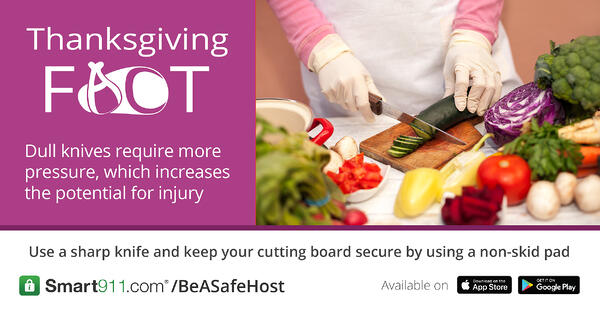 Smart911- Tgiving Safety Facts- Dull Knife FB