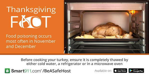 Smart911- Tgiving Safety Facts- Food Poison FB