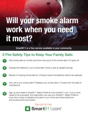 Smoke Alarm Flyer